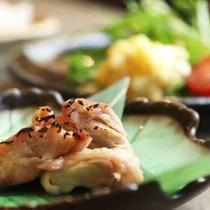 朝食一例◆鶏もも塩麹漬け.