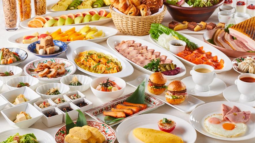 〇100種類以上のメニューをご堪能いただけるホテル自慢の朝食ブッフェ(イメージ)