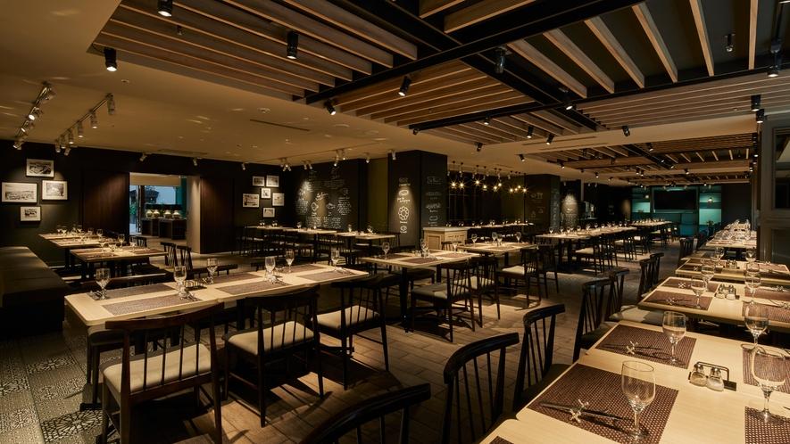 〇3階レストラン夜のイメージ