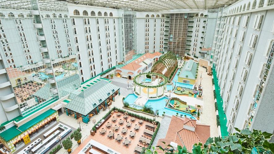 〇ホテル3階アトリウムロビー全景(イメージ)