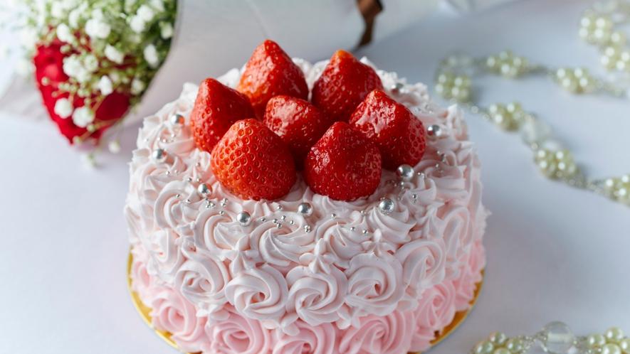 〇苺の生デコレーションケーキ(イメージ)