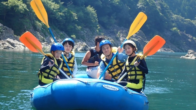 ゴムボートに乗っての急流下りで自然の中を大冒険! 北山川ラフティング体験付宿泊プラン(2食付き)