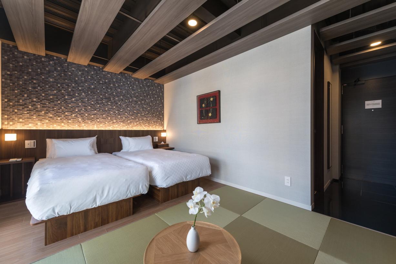 【スーペリアツインルーム】ベッド 幅 90cm x 長 195cm