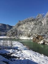 露天風呂からの眺望(冬)