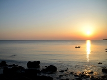 日本海に沈む夕日