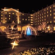ホテル庭園イルミネーション
