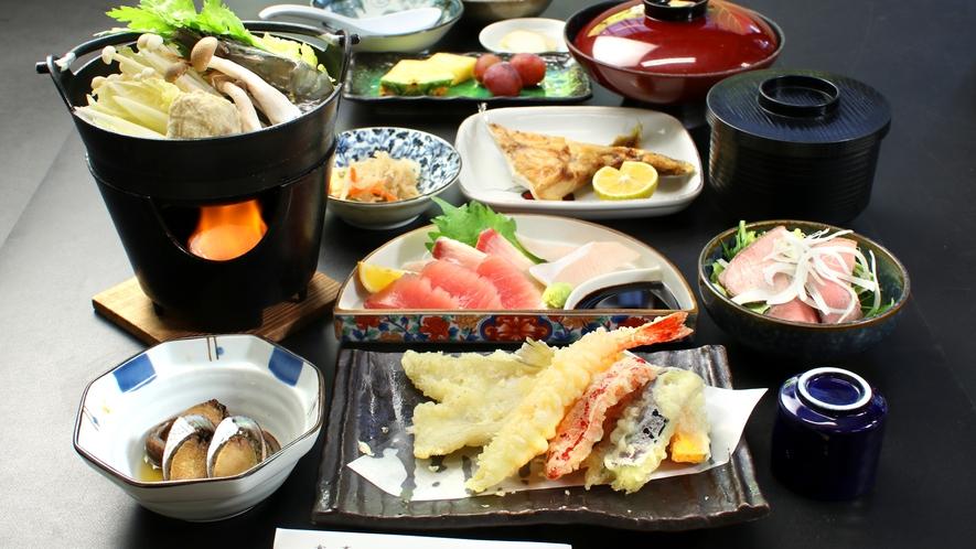 宍喰のすべてを詰め込んだはるる亭特製海鮮定食