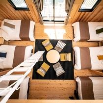 【ヴィラ】グランエレメントで唯一の2階建てヴィラは定員6名様で広々としています。