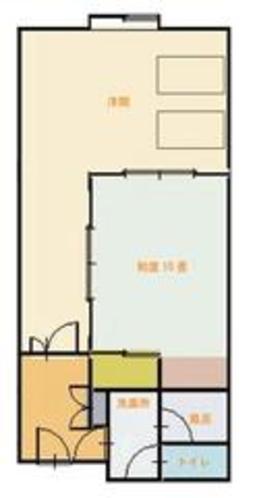 ホテル客室平面図