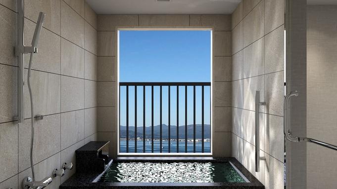 【半露天風呂付ツイン34㎡】10階以上確約!海側眺望ゆったり滞在!函館朝市15店舗から選べるご朝食付