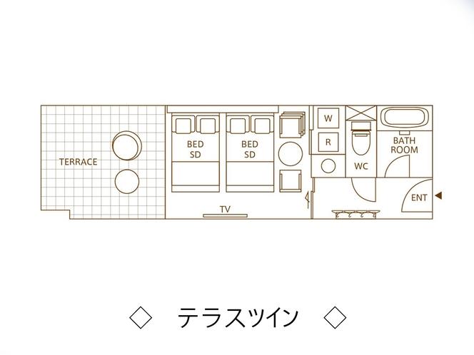 【テラスツイン】平面図