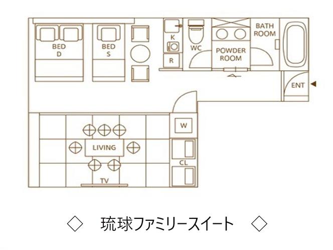 【琉球ファミリースイート】平面図