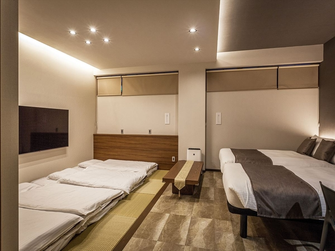 琉球ファミリースイート 洋室+和室(琉球畳)専用駐車場付き
