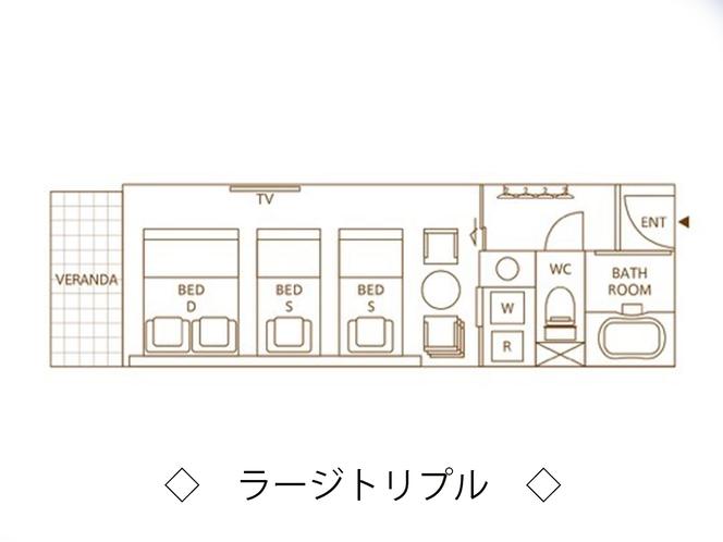【ラージトリプル】平面図