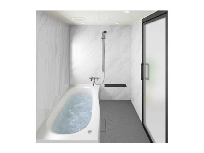 【バスルーム】琉球ファミリースイト、グランスイート、コーナーツインには大型のバスタブを導入