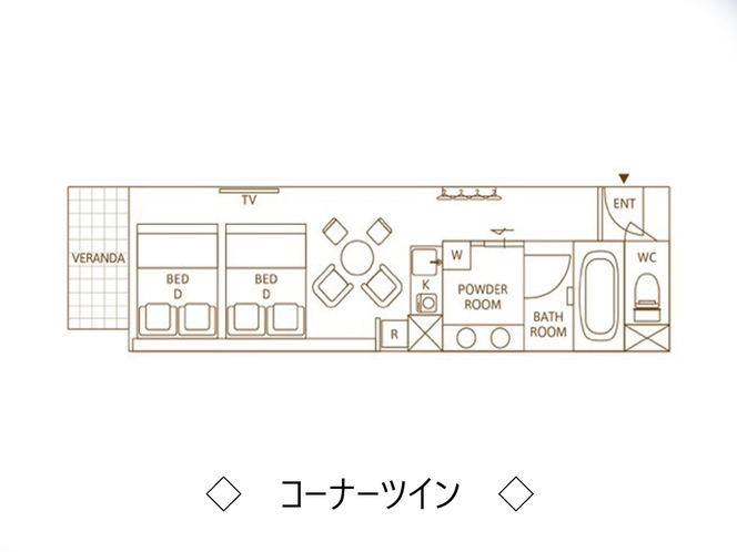 【コーナーツイン】平面図