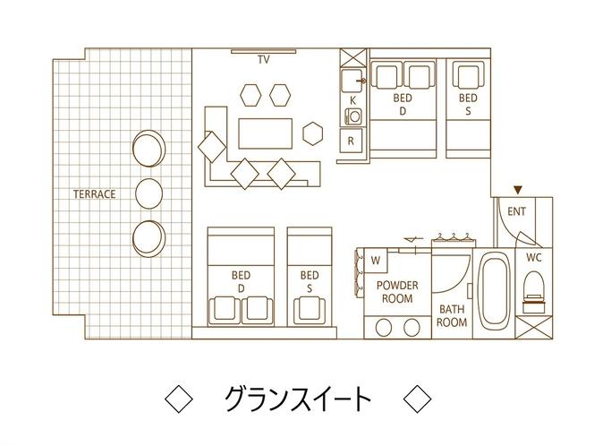 【グランスイート】平面図