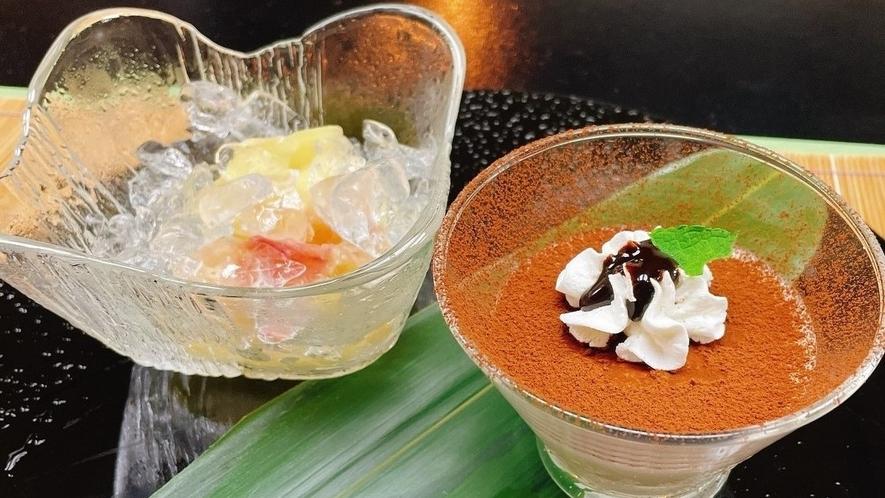 白桃とレアチーズプリン