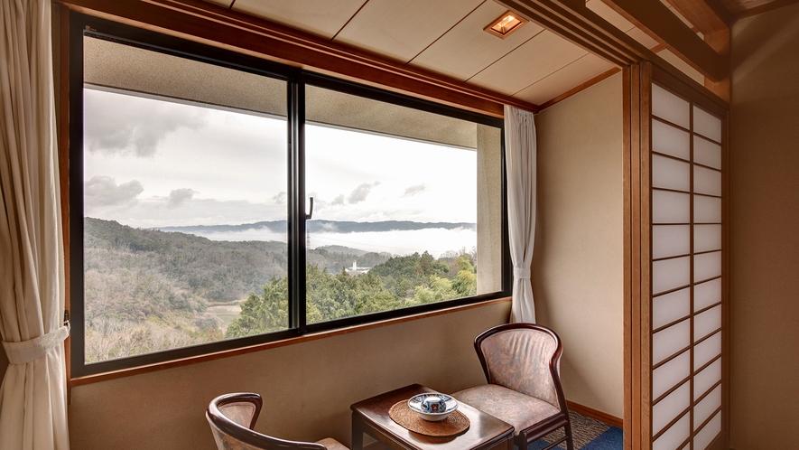 *【景色の見える山側の部屋】景色を眺めてのんびり贅沢なひと時を。