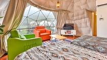 *【洋室一例】ツインベッドとソファベッド2台、ホテルの部屋の様にゆったりくつろげます
