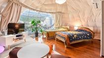 *【和洋室一例】ベッドはセミダブルサイズでゆったりとお休みいただけます