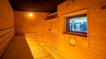 【天然温泉大浴場・男子】 テレビ付き高温サウナ(約95℃~97℃)