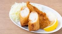 【朝食】◆ご当地『ハトシ&長崎産アジフライ』◆