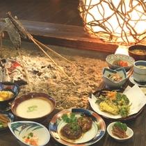夕食◆山宿ならではのお食事内容
