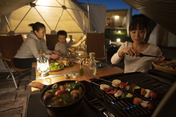 オーシャンビューテント 2食付(BBQ)