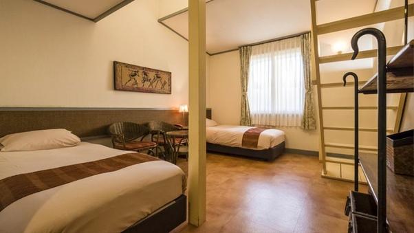 洋室ロフト付き[4ベッド]ペットと泊まれるお部屋