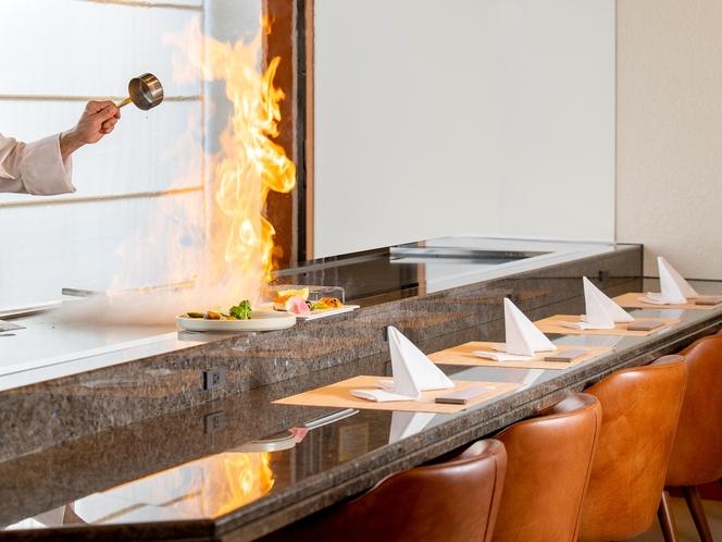 夕食 鉄板焼きイメージ