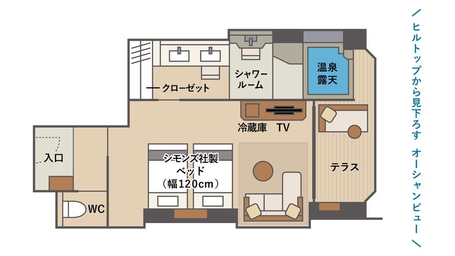露天風呂 デラックステラスツインB3(間取図)