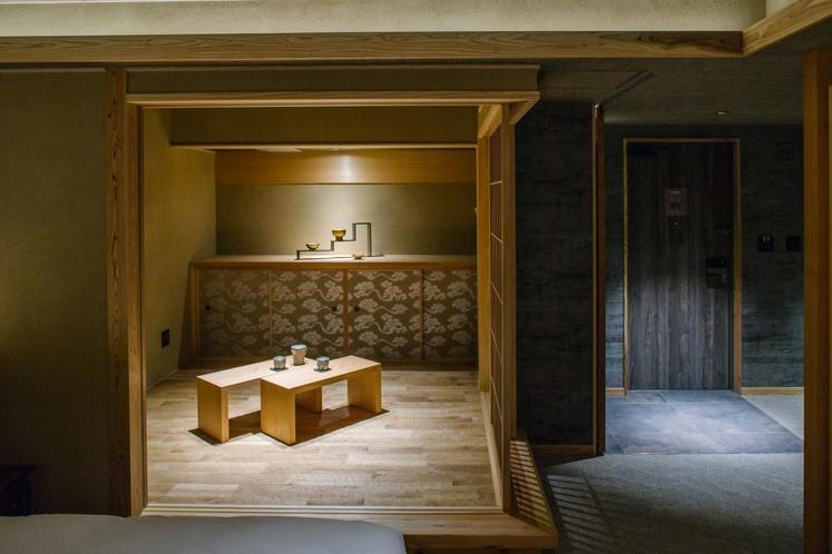 5階なぐり床と唐長の和室