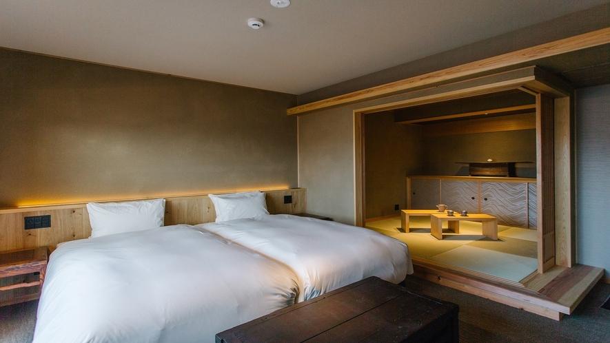 401号室 遠州 ベッドルームと和室