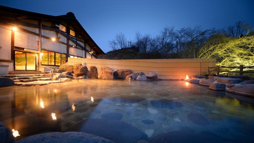 「大浴場とよさわ乃湯」露天風呂