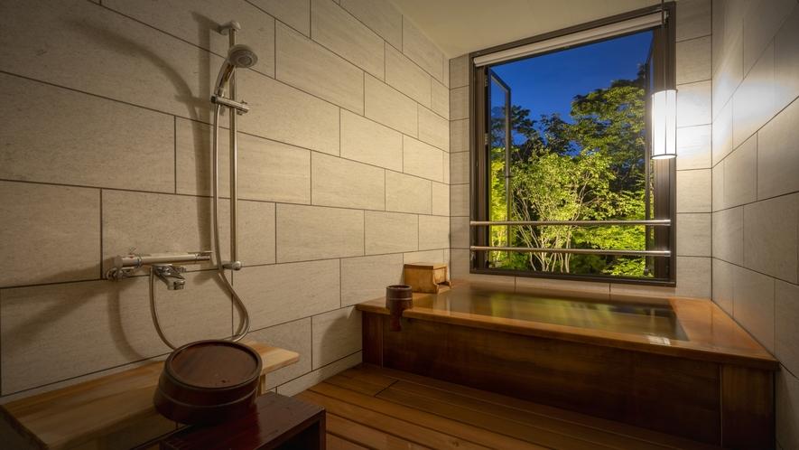客室風呂ライトアップ