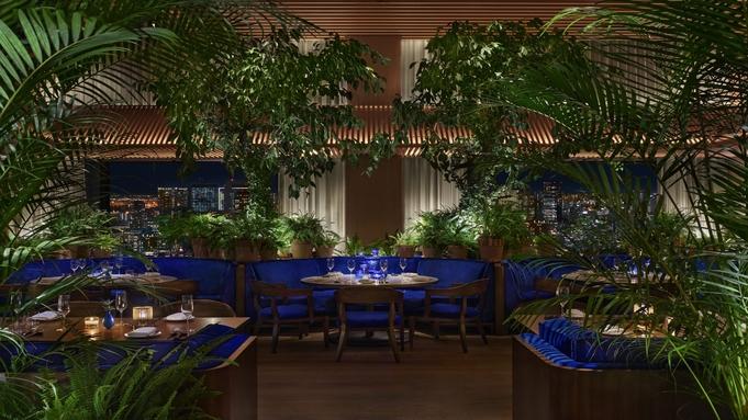 【旬を味わうディナーコース】高層階レストラン「The Blue Room」にて味わう贅沢ディナー