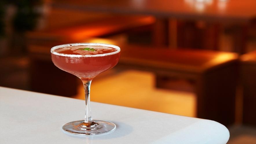 Lobby Bar ドリンクの一例「山椒&ザクロ」