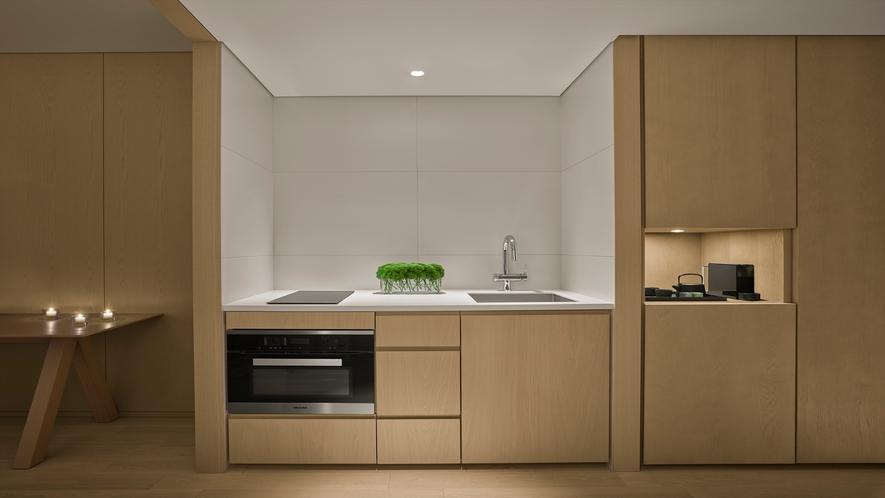 長期のご滞在にも対応したキッチン(一部の客室のみご用意しております。)
