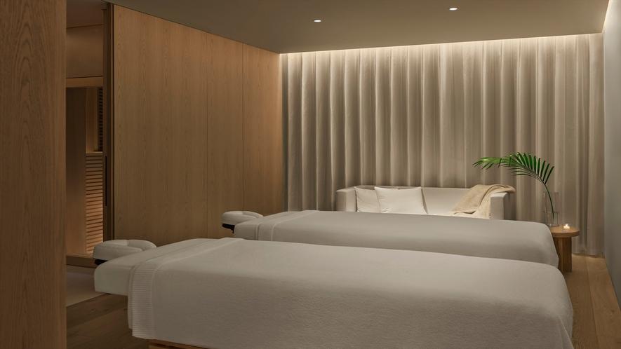 SPAではカップルスイートを含む全6室のトリートメントルームを完備しております。