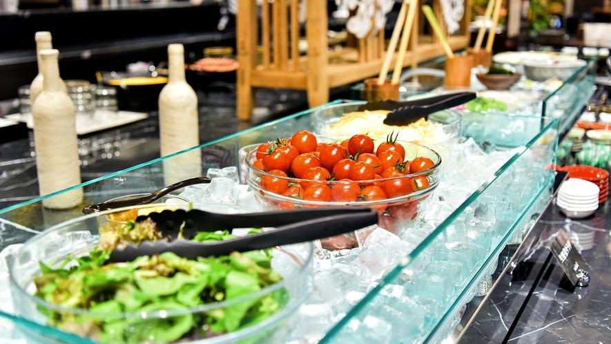 朝食ブッフェの一例~サラダコーナー