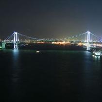ベイビュールームから望むレインボーブリッジ夜景②
