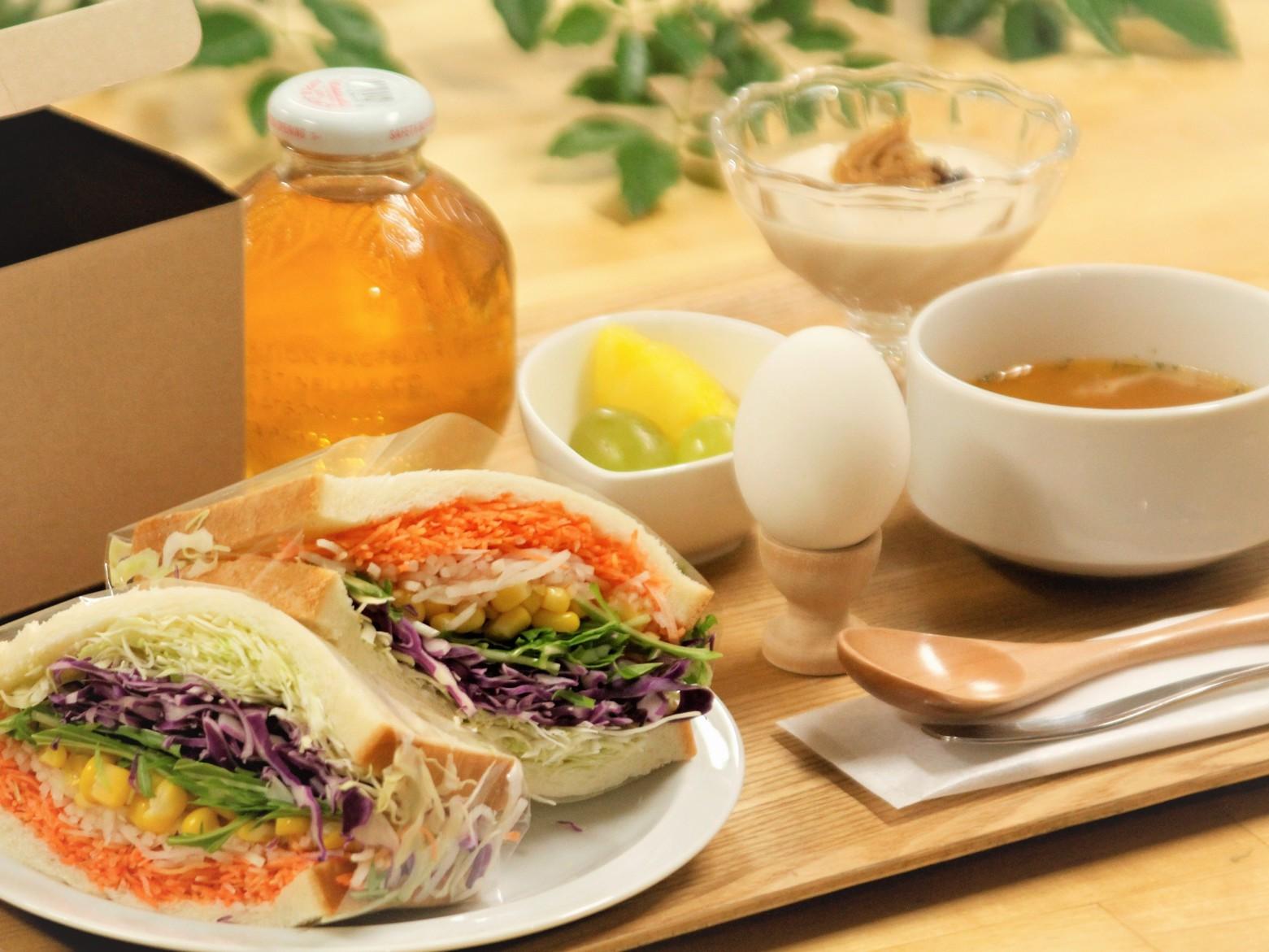 朝食(サンドイッチセット)