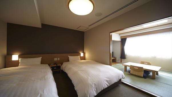 ◇禁煙和洋室◇WiFi完備&サータ社製ベッド