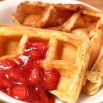 ◇朝食バイキング:ワッフル