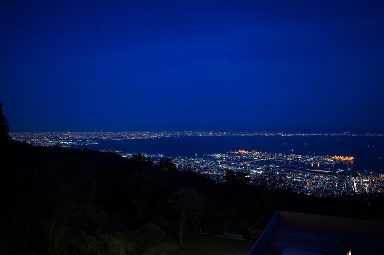 レストラン「繋」からの神戸の夜景