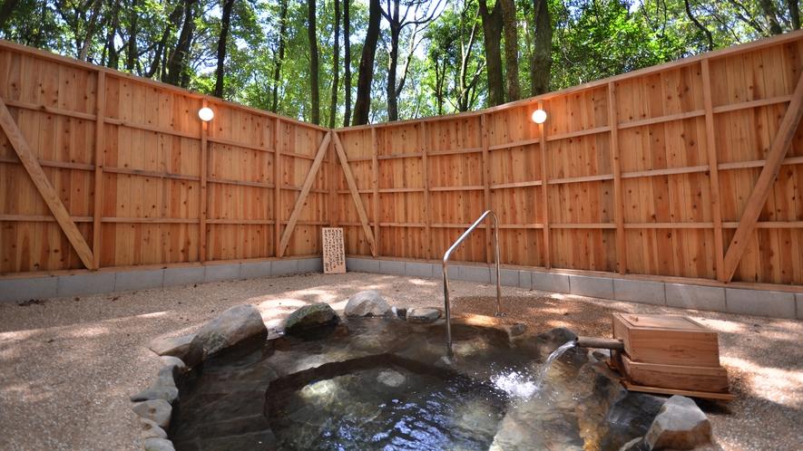 森の野天風呂「木の香り」