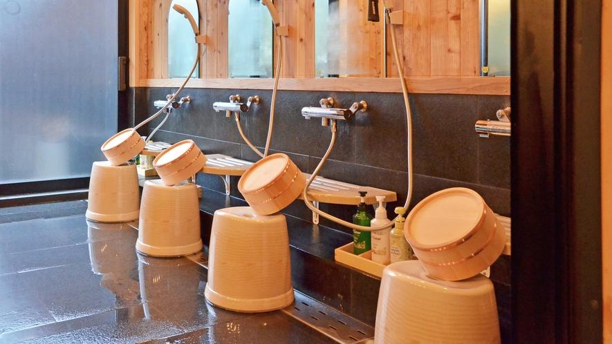 大浴場「遊湯館」_内湯のシャワースペース