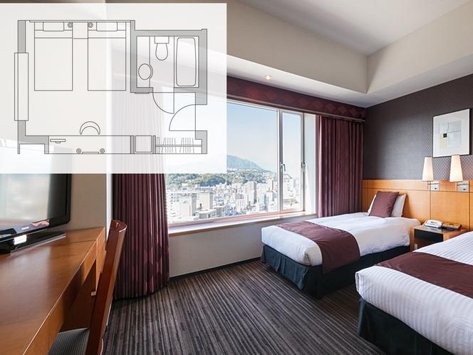 【客室・平面図】ツインルーム