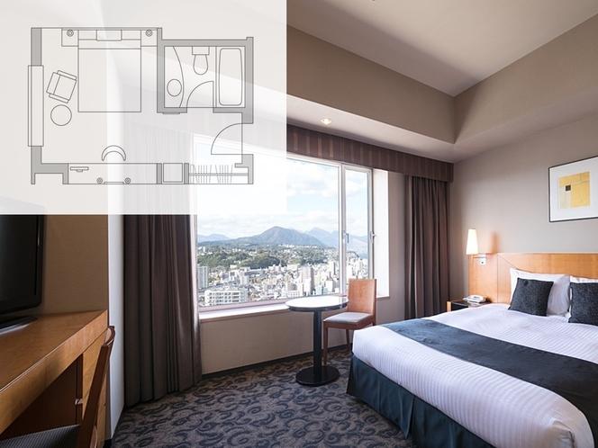 【客室・平面図】デラックスダブルルーム